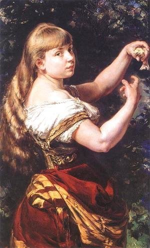 Jan Matejko - Portrait of a daughter Beata