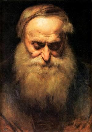 Jan Matejko - old man's head