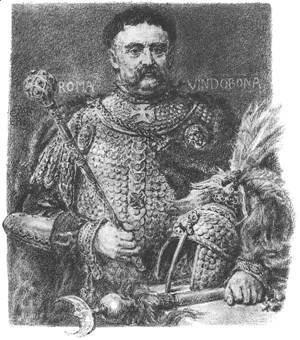 Jan Sobieski, portraited in a parade scale armour