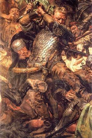 Jan Matejko - Battle of Grunwald, Jan Zizka (detail)