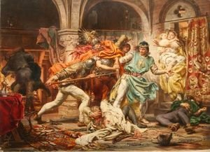 Jan Matejko - Death of King Przemysl II