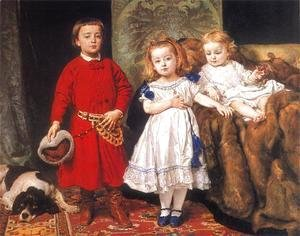 Jan Matejko - Portrait of three children