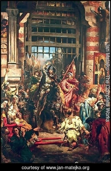 Jan Matejko - Boleslaw the Brave with Sviatopolk at the Golden Gate in Kiev