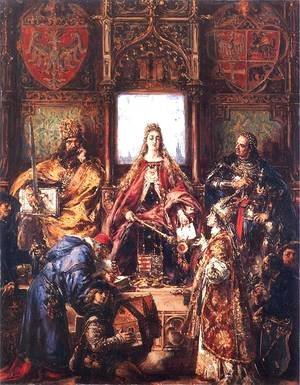 Jan Matejko - The Marriage of Jadwiga and Jagiello