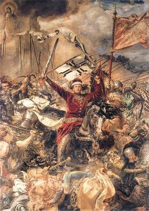 Jan Matejko - Battle of Grunwald, Witold (detail)