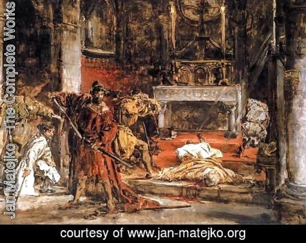 Jan Matejko - Murder of St. Stanislaus