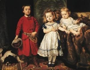 Jan Matejko - Portrait of Artist's Children