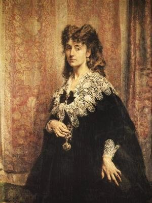 Jan Matejko - Portrait of Maria Puslowska