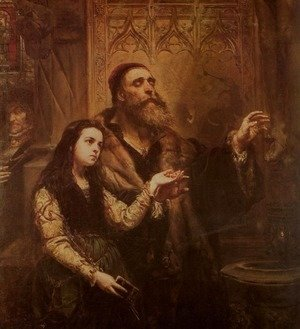 Jan Matejko - Blind Wit Stwosz with His Granddaughter