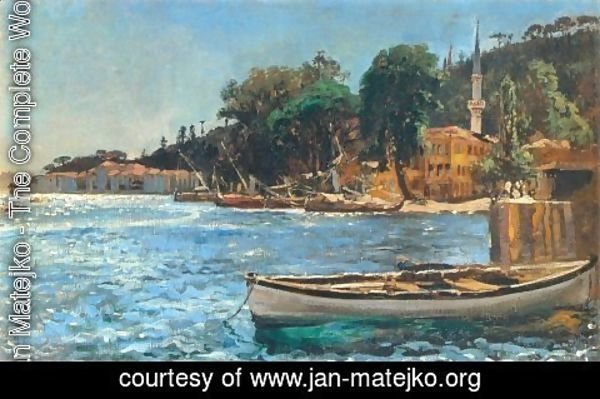 Jan Matejko - View of Bebek near Constantinople