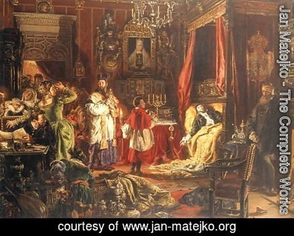 Jan Matejko - Death of Sigismund Augustus in Knyszyn