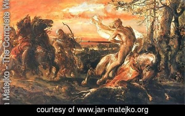 Jan Matejko - Slaying of Leszek the White in Gasawa