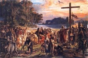 Jan Matejko - Christianisation of Poland in 965