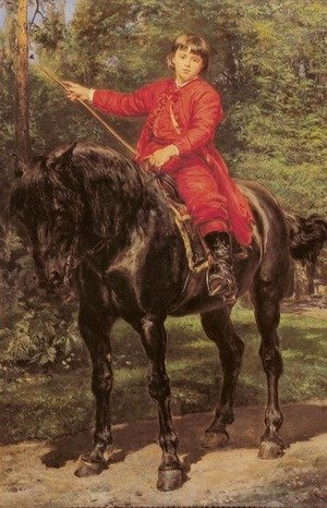Jan Matejko - Portrait of the Artist's Son on Horseback